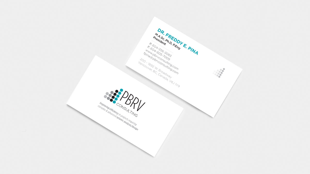 Pbrv pbrv consulting ltd in order business cards engineering pad projects brochure reheart Choice Image